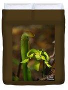 Hooded Pitcher Plant Duvet Cover