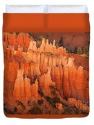 Hoodoos At Sunrise Bryce Canyon National Park Utah Duvet Cover