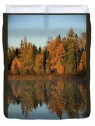 Hooker Lake Reflections Duvet Cover