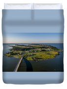 Hoopers Island By Air Duvet Cover