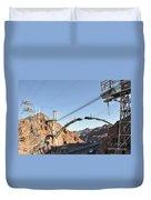Hoover Dam Bypass Highway Under Construction Duvet Cover