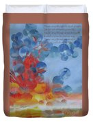 Hope Rising - With Poem Duvet Cover