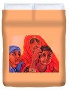 #hopeful In India Duvet Cover