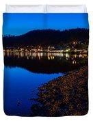 Hopfensee Lake Landscape Duvet Cover