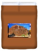 Hopi House And Dedication Plaque Duvet Cover