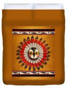 Hopi Owl Mask Duvet Cover