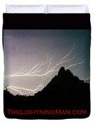 Horizonal Lightning Poster Duvet Cover