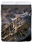 Horn Toad Duvet Cover