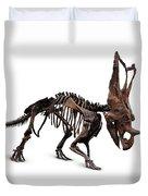 Horned Dinosaur Skeleton Duvet Cover