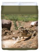Horned Lizard Duvet Cover