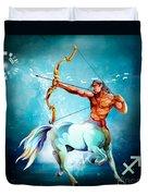 Horoscope Signs-sagittarius Duvet Cover