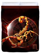 Horoscope Signs-scorpio Duvet Cover