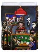 Horror Card Game Duvet Cover