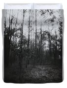 Horror In The Woods Duvet Cover
