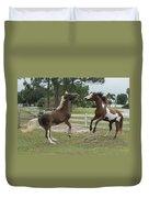 Horse Aerobics Duvet Cover