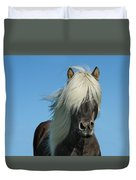 Horse And Blue Sky Duvet Cover