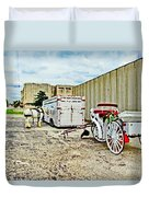 Horse And Buggie Duvet Cover