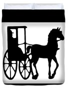 Horse And Buggy Vector Duvet Cover