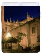 Horse And Carriage Seville Spain Duvet Cover