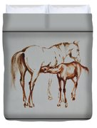 Mare And Foal Duvet Cover