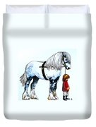 Horse And Groom Duvet Cover