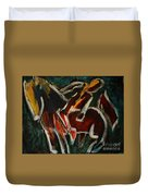 Horse And Man Duvet Cover