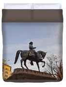 Horse And Rider Monument Duvet Cover