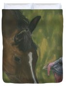 Horse And Turkey Duvet Cover