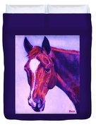 Horse Art Horse Portrait Maduro Pink And Purple Duvet Cover