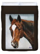Horse Art Portrait Of Horse Maduro Duvet Cover