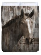 Horse At Home On The Range Duvet Cover