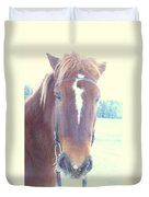 Horses Use Complex Facial Expressions Nearly Identical To Humans  Duvet Cover by Hilde Widerberg