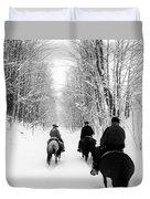 Horse Back Riding Duvet Cover