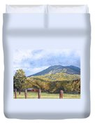 Horse Barn At Cades Cove Duvet Cover