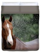 Horse Bath I Duvet Cover
