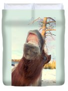 Horse Facial Expressions Are Nearly Identical To Those Of Humans Duvet Cover