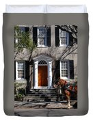 Horse Carriage In Charleston Duvet Cover