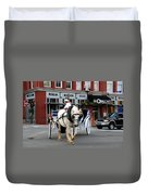Horse Carriage In Nashville Duvet Cover