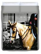 Horse Equus Ferus Caballus V2 Duvet Cover