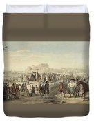 Horse Fair On Bruntsfield Links, Edinburgh Duvet Cover