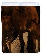 Horse Family  Duvet Cover