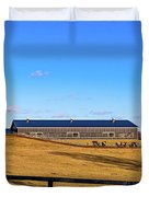 Horse Farm - Rising Moon Duvet Cover