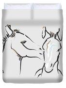 Horse-foals-together 6 Duvet Cover