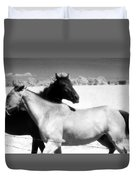 Horse Friends Two  Duvet Cover