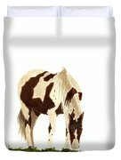 Horse Grazing Duvet Cover
