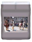 Horse Guard At Parade Duvet Cover