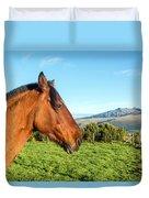 Horse Head Closeup Duvet Cover