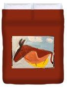 Horse In Contemplation Duvet Cover