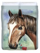 Horse In Love Duvet Cover