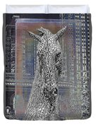Horse In The City Duvet Cover